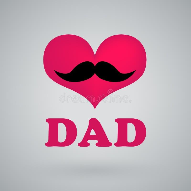 Eu amo o paizinho, dia de pais feliz ilustração royalty free