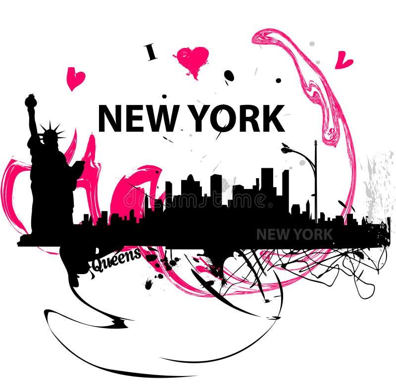 Eu amo o poster de New York foto de stock royalty free