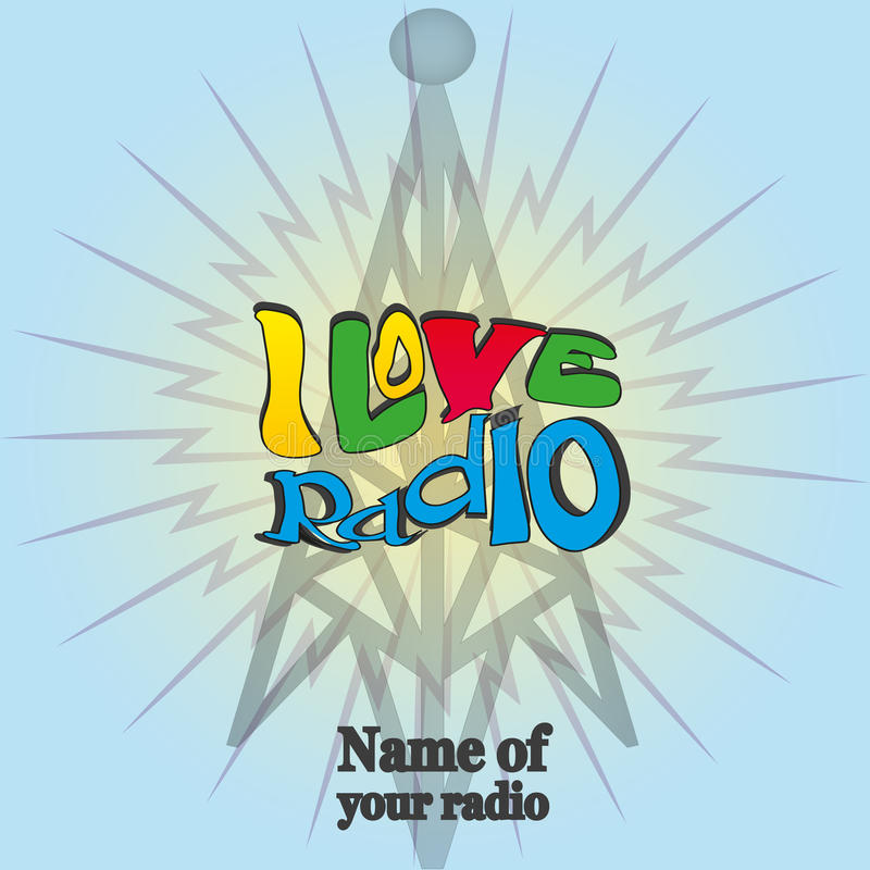 Eu amo o rádio 1 ilustração stock