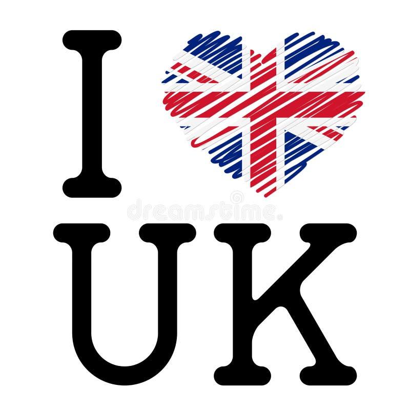 Eu amo o Reino Unido ilustração stock