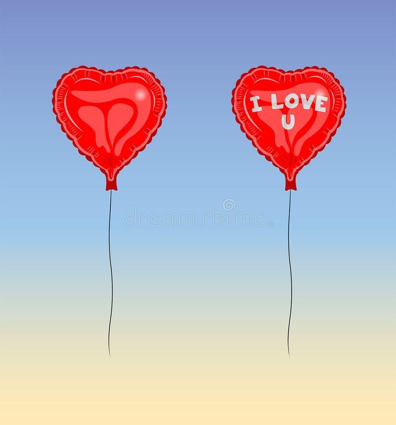 Eu amo o vetor do balão de U ilustração do vetor