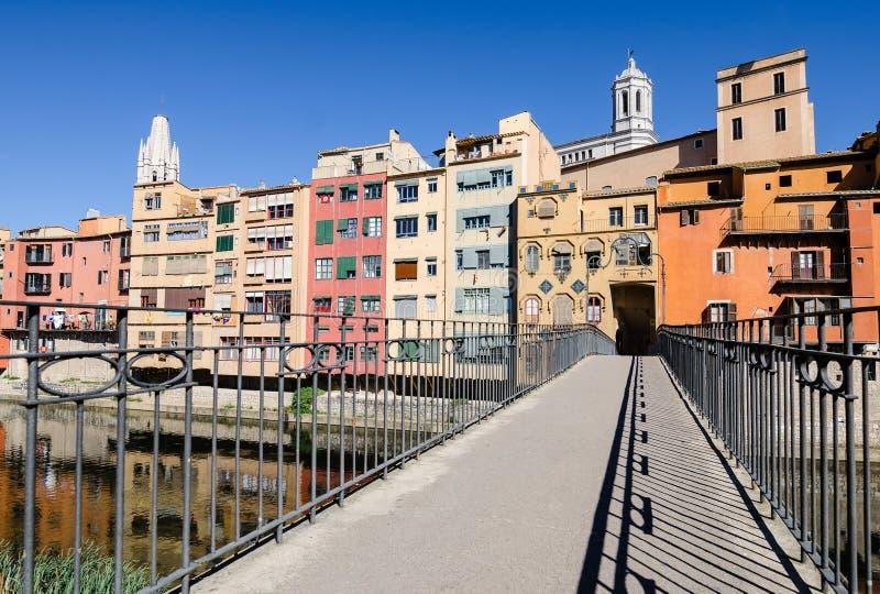 Eu amo a ponte de Gómez de Gerona, Espanha imagem de stock