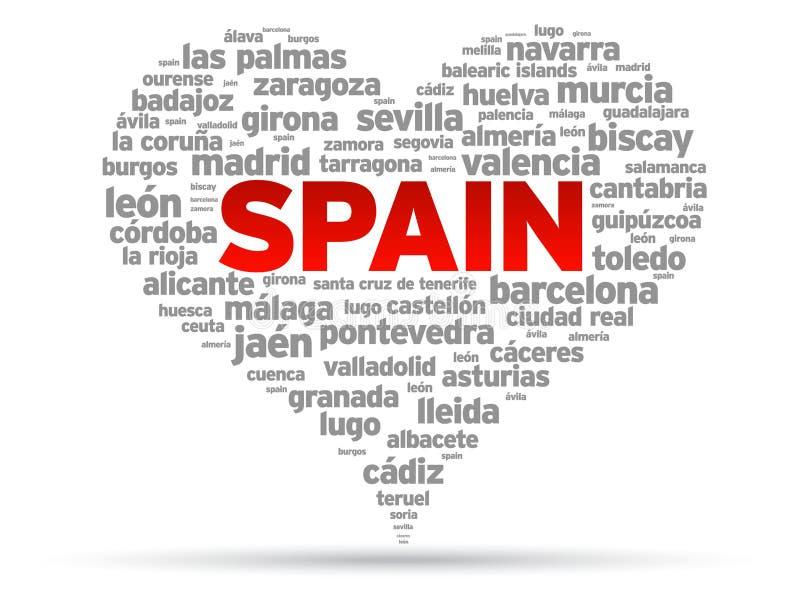 Eu amo Spain ilustração stock
