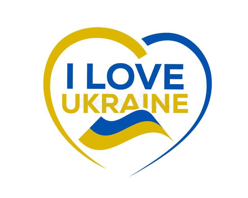 Eu amo Ucrânia ilustração stock
