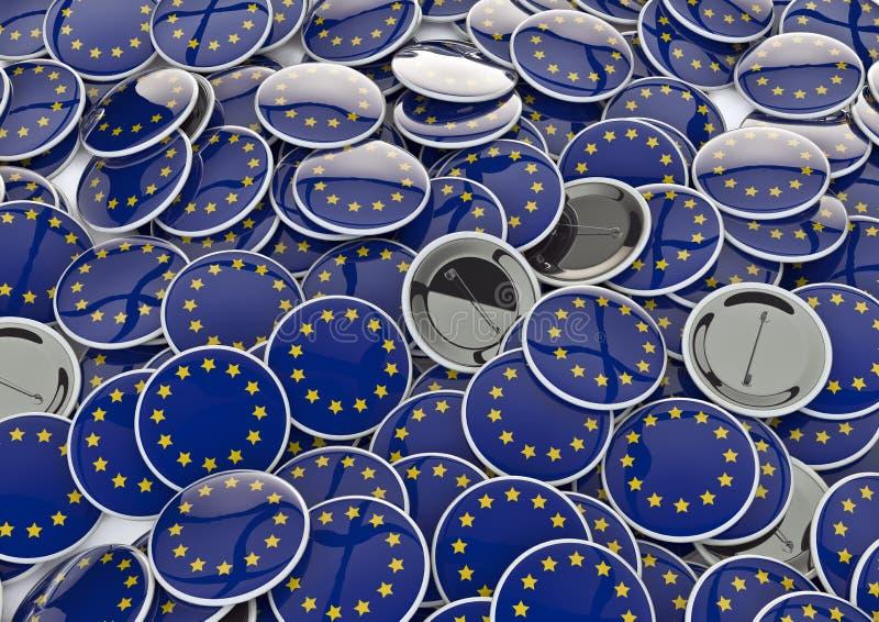 Download EU badges stock illustration. Illustration of button - 22040128
