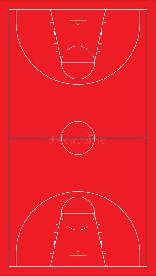 EU Basketball Court Royalty Free Stock Photo