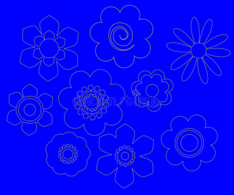 EU Bloom Icons Royalty Free Stock Photo