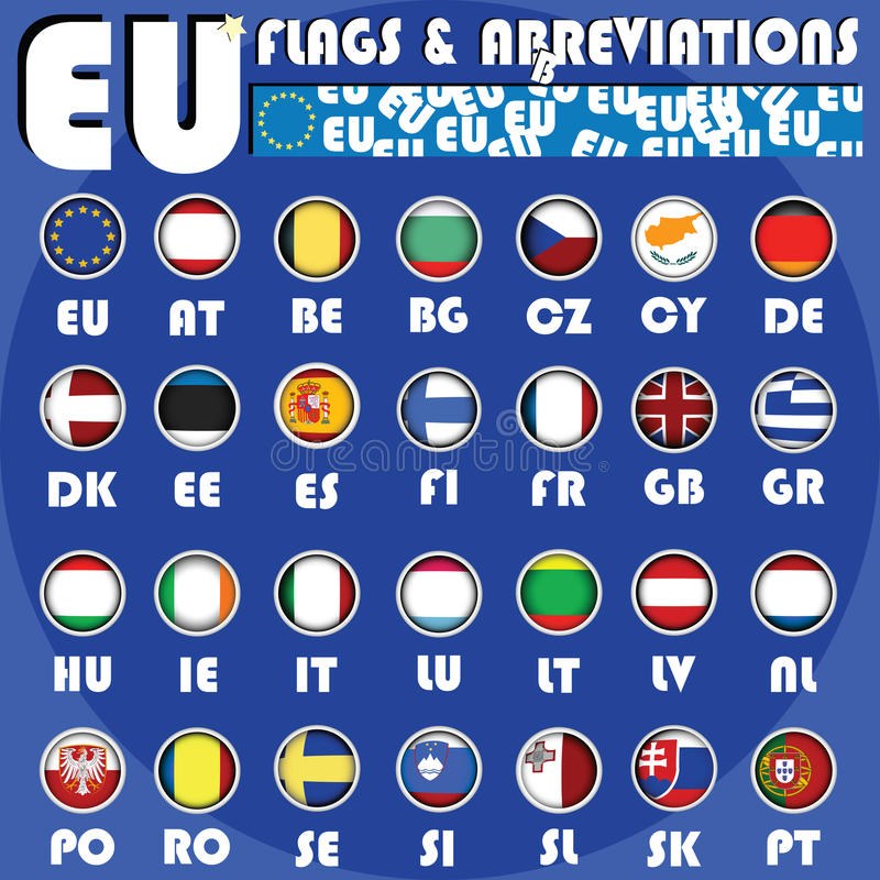Download Eu buttons stock illustration. Illustration of icon, europe - 12235273