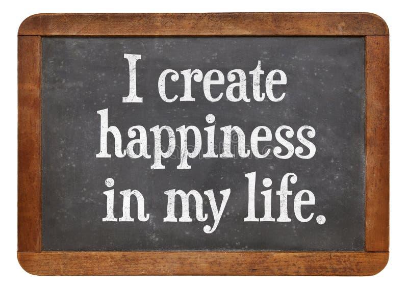 Eu crio a felicidade em minha vida fotos de stock