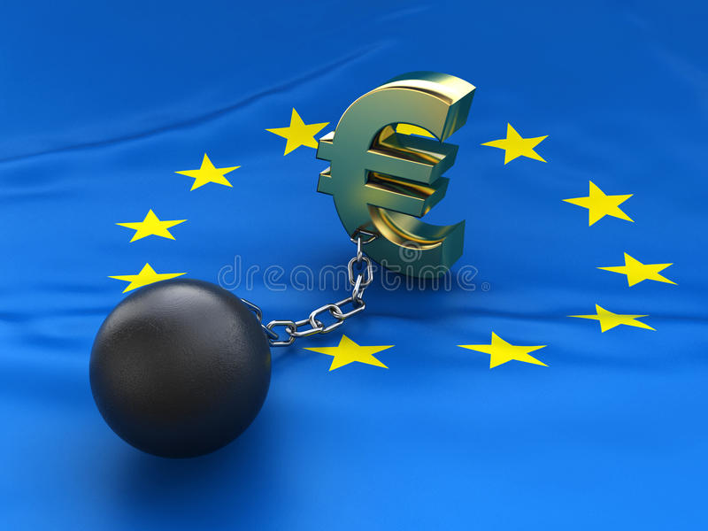 Download EU debt crisis stock illustration. Image of trouble, flag - 28113111