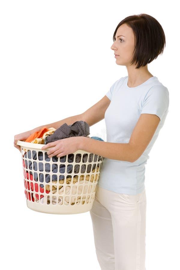 Eu devo lavar esta roupa imagens de stock