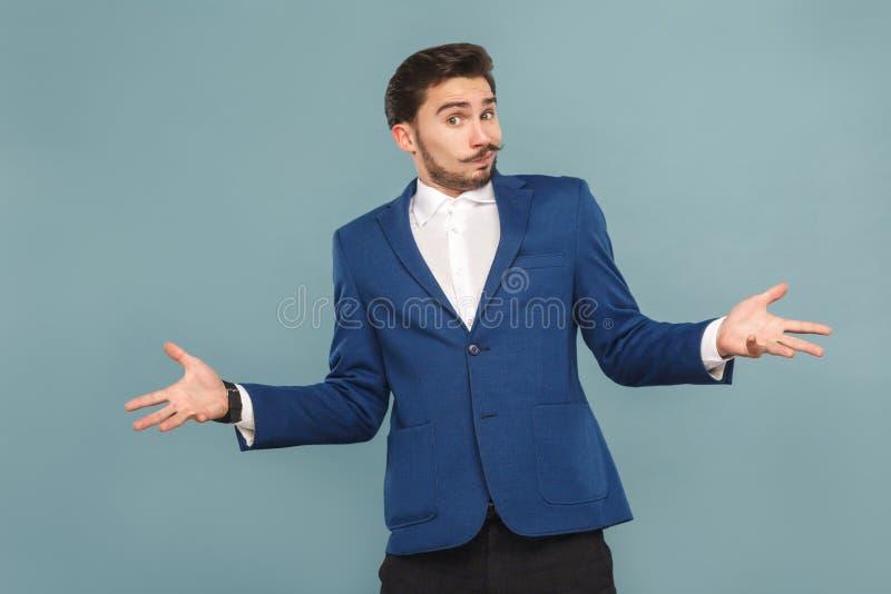 Eu don o ` t agora Retrato de homem confuso foto de stock royalty free
