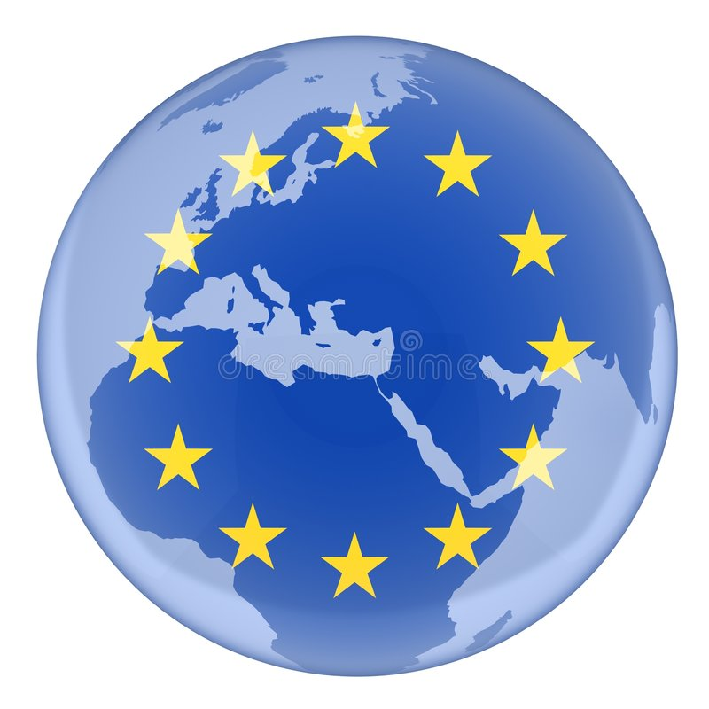Download EU and earth stock illustration. Image of flag, constitution - 8836966