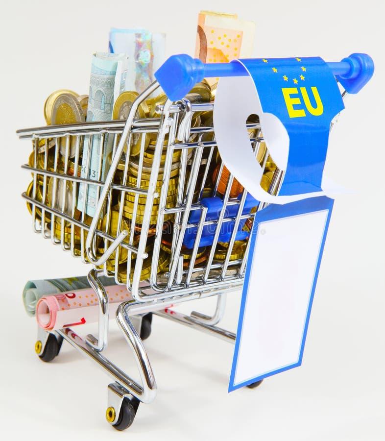 EU-ekonomiskt stöd royaltyfria foton