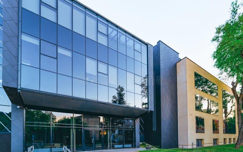 EU Entrance modern corporate business office building skyscraper stock photos