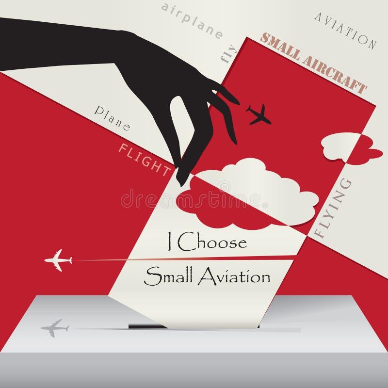 Eu escolho a aviação pequena ilustração royalty free