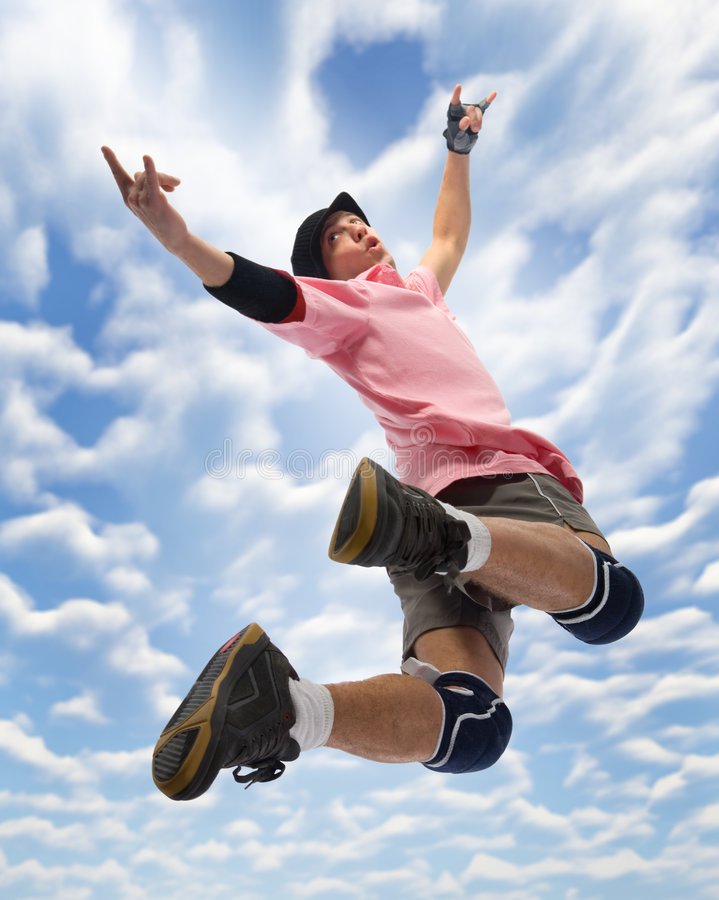 Eu estou voando! fotos de stock