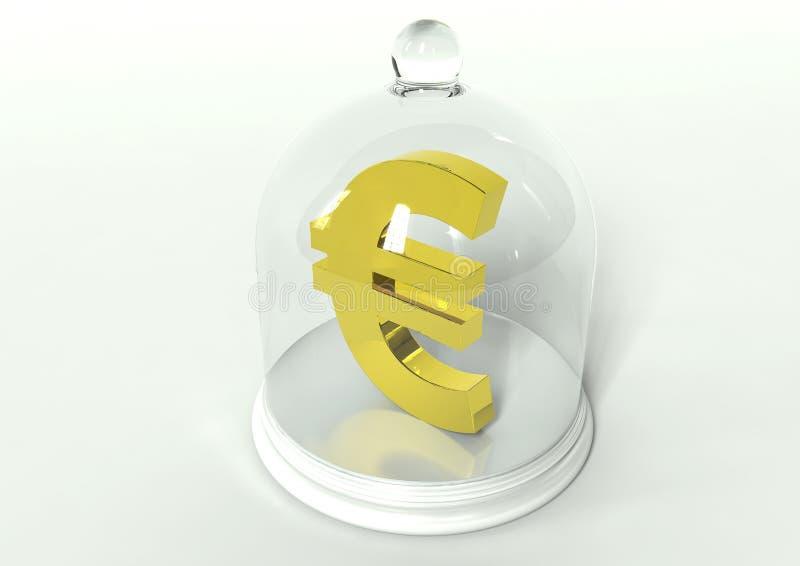 Eu euro ochrona royalty ilustracja