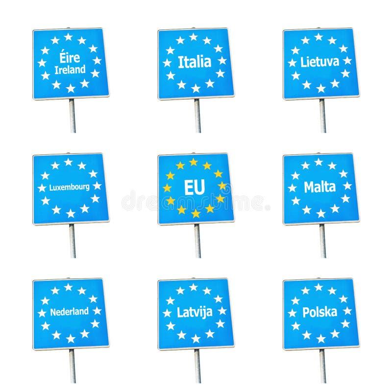EU-/Europa gränstecken stock illustrationer