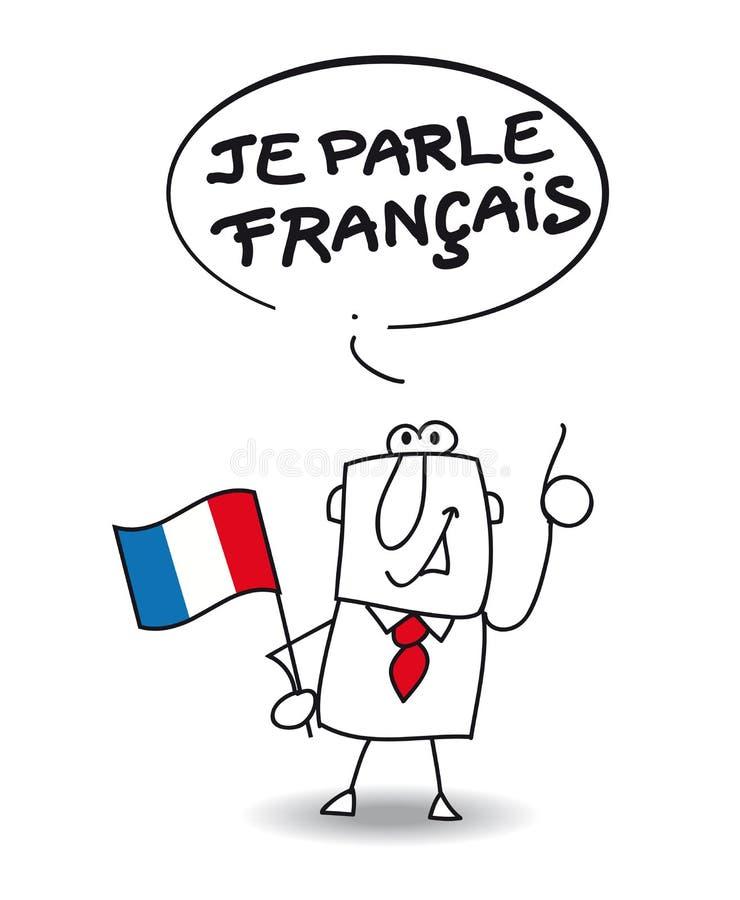 Eu falo o francês ilustração stock