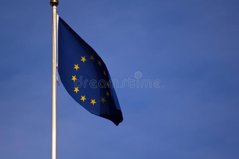 Eu flag royalty free stock photo