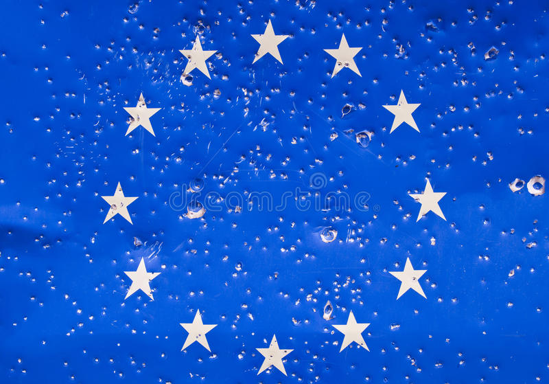 Download EU flag stock image. Image of country, destroued, banner - 19727947