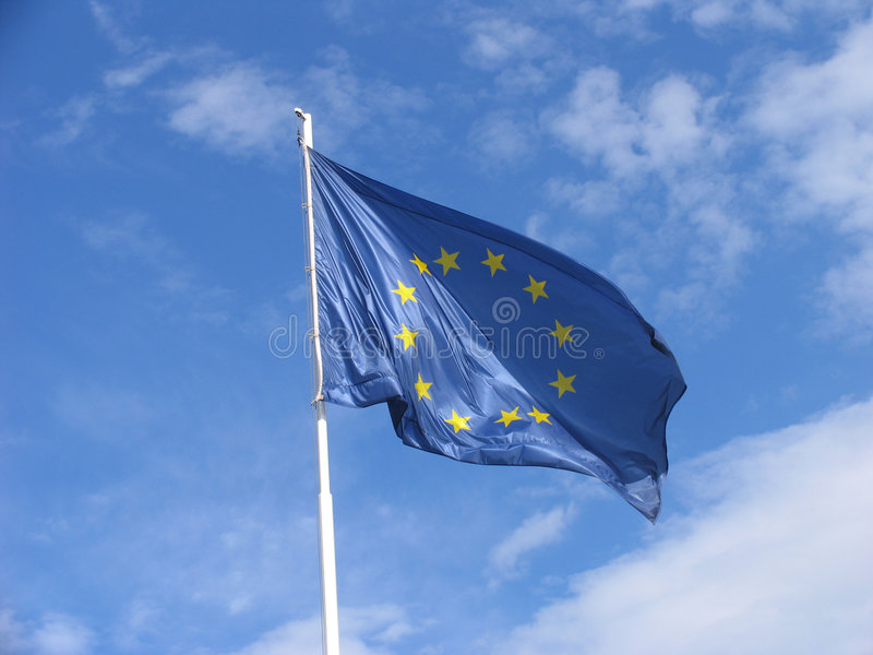 Download EU flag stock photo. Image of pole, nations, country, cloud - 21252