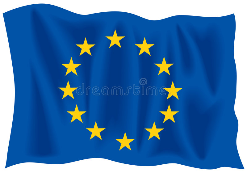 EU flag royalty free stock images
