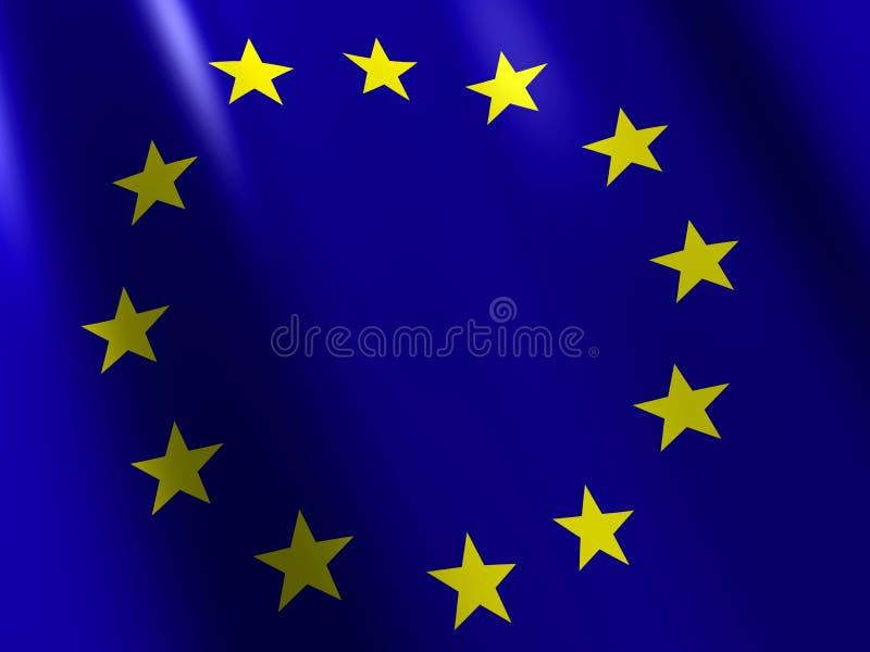 Download Eu flag stock illustration. Image of blue, flag, wind - 3195374