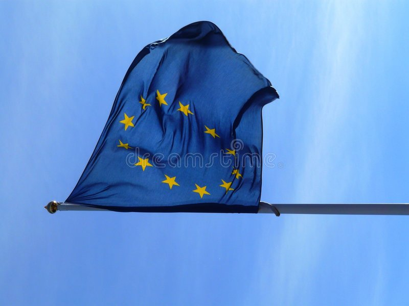 Download Eu-flag stock photo. Image of clouds, flags, europeanunion - 5283692