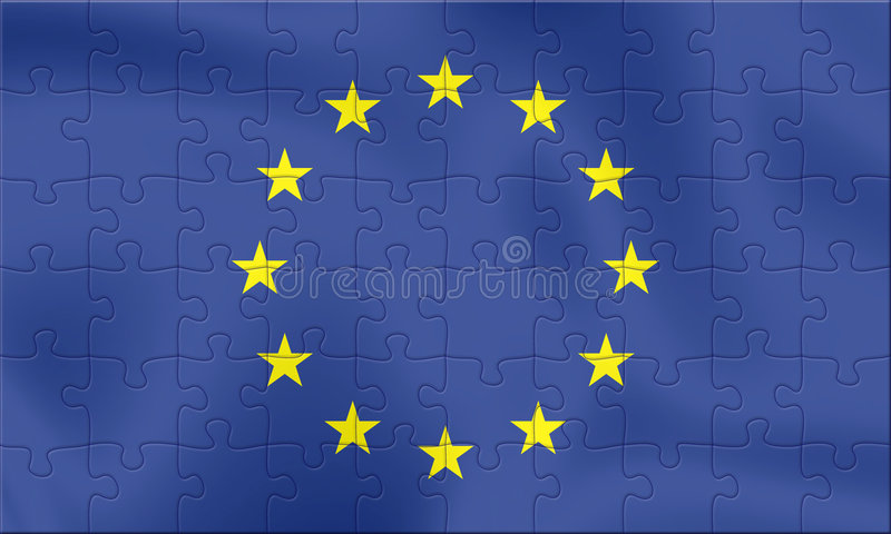 EU Flag stock illustration