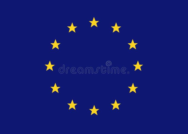 EU flag иллюстрация штока