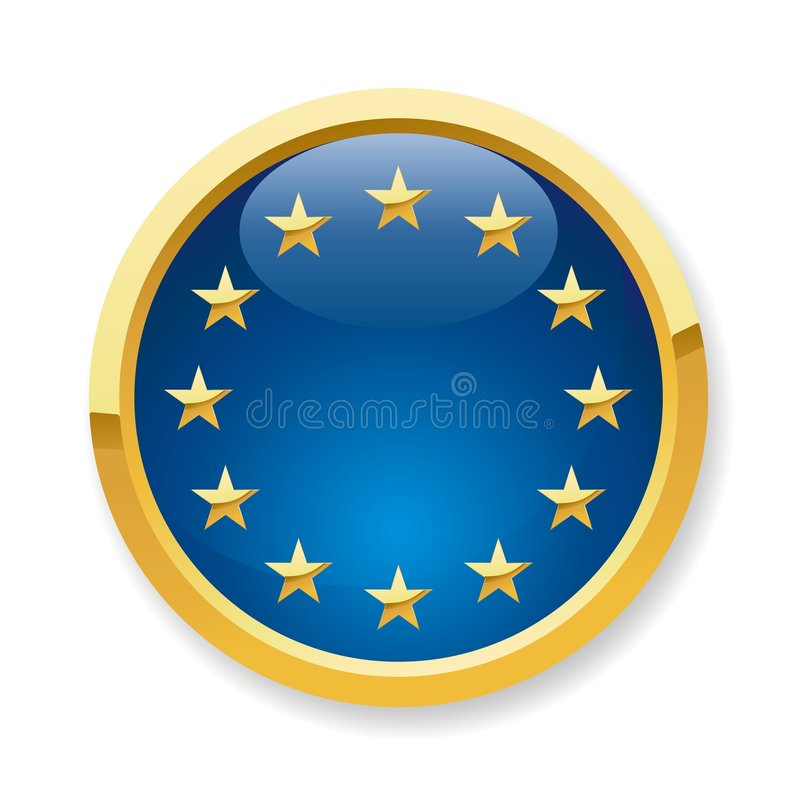 Download EU flag button stock vector. Image of europe, illustration - 7887451