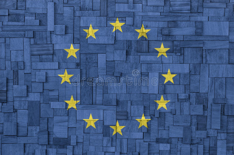 Download EU Flag On A Wooden Background Stock Photos - Image: 33240963