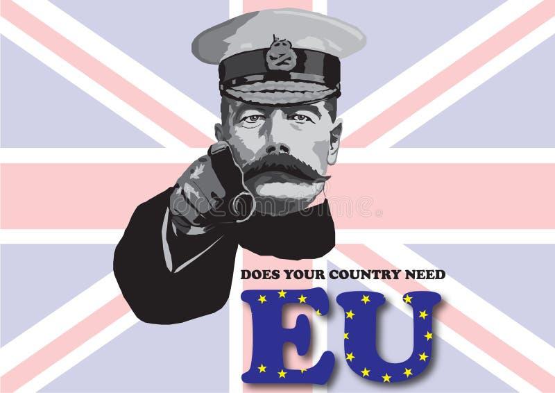 EU-folkomröstningaffisch stock illustrationer
