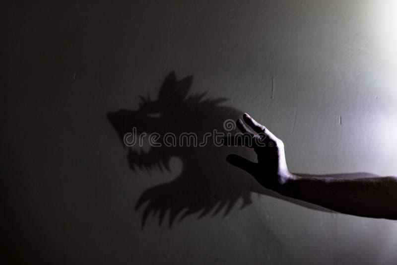Eu gosto de jogos da sombra fotografia de stock