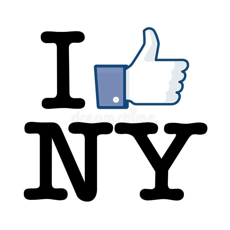 Eu gosto de New York ilustração royalty free