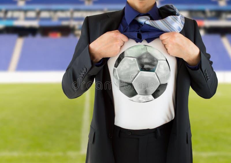 Eu gosto do futebol foto de stock