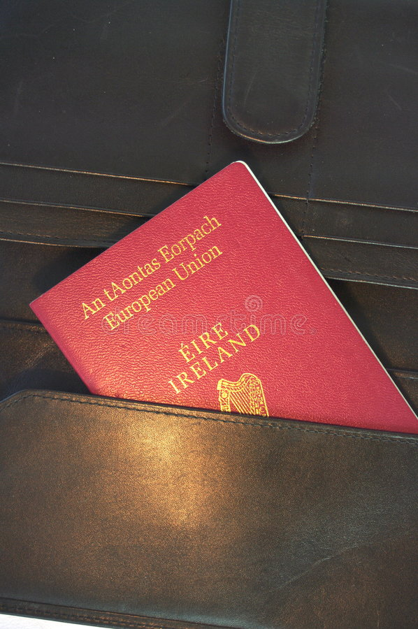 eu irlandczyka paszport obraz royalty free
