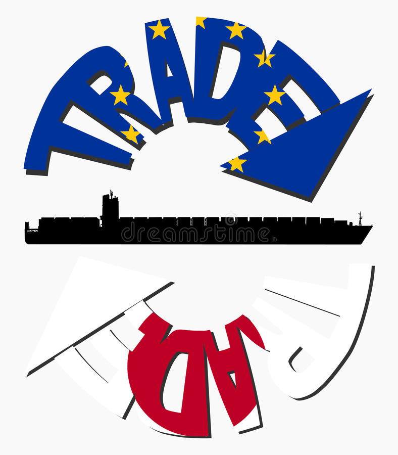 Download EU And Japanese Trade Royalty Free Stock Photos - Image: 10473138