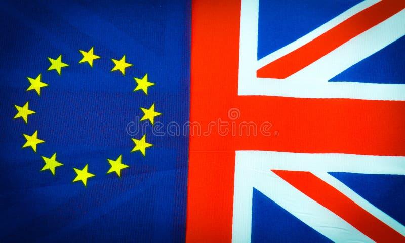 EU kontra UK arkivfoton