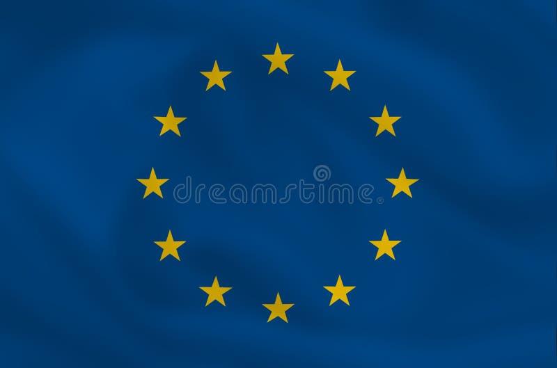 EU-Markierungsfahne stock abbildung