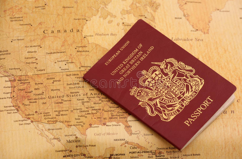 Download EU Passport On A World Map Royalty Free Stock Image - Image: 23581986