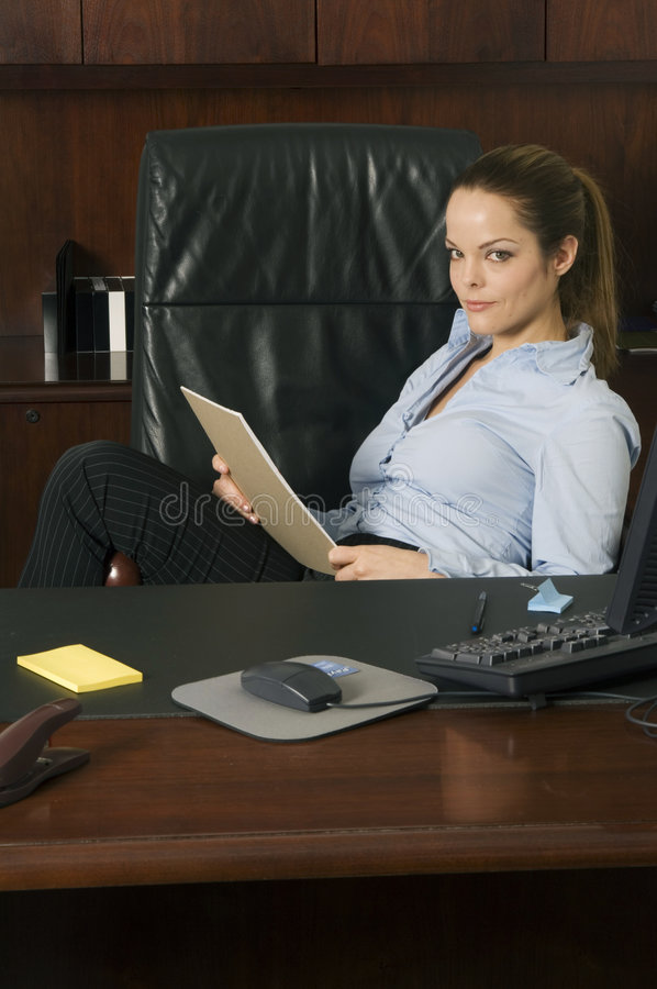 Download Eu Penso Que Nós Temos Um Negócio Imagem de Stock - Imagem de mulher, paperwork: 540505