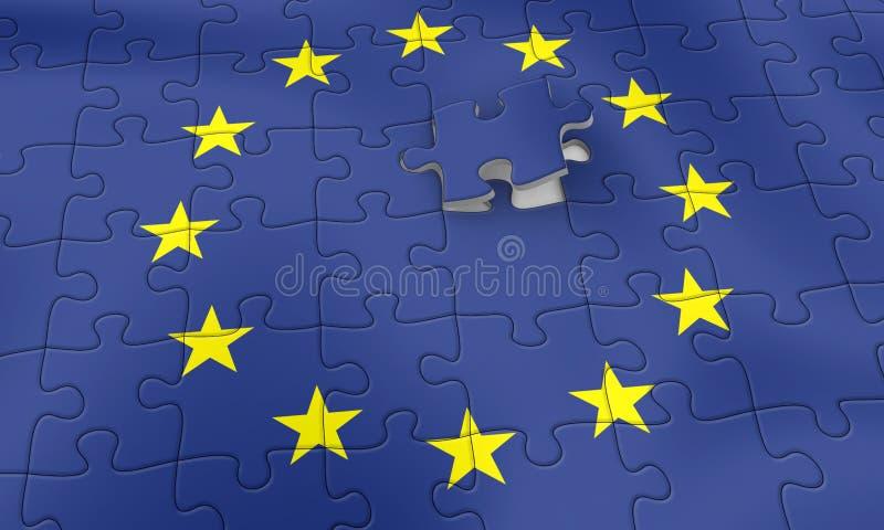 EU puzzle royalty free illustration