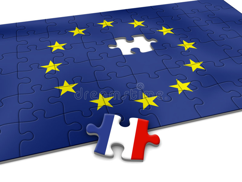 EU puzzle vector illustration