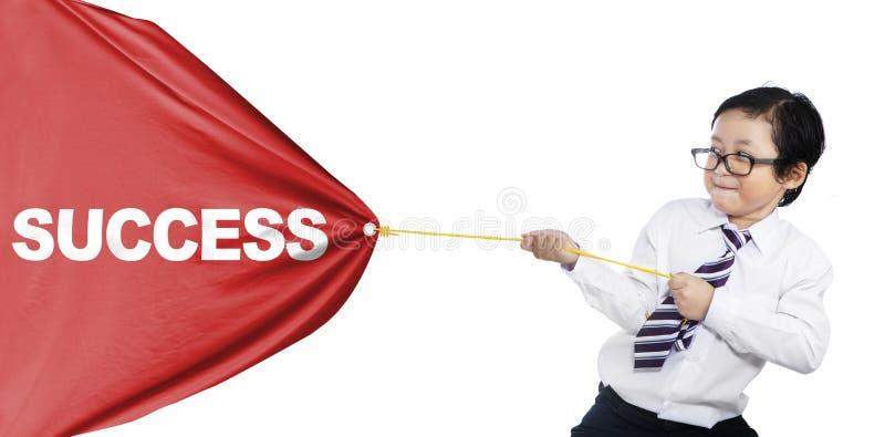 Eu quero ao sucesso ilustração royalty free