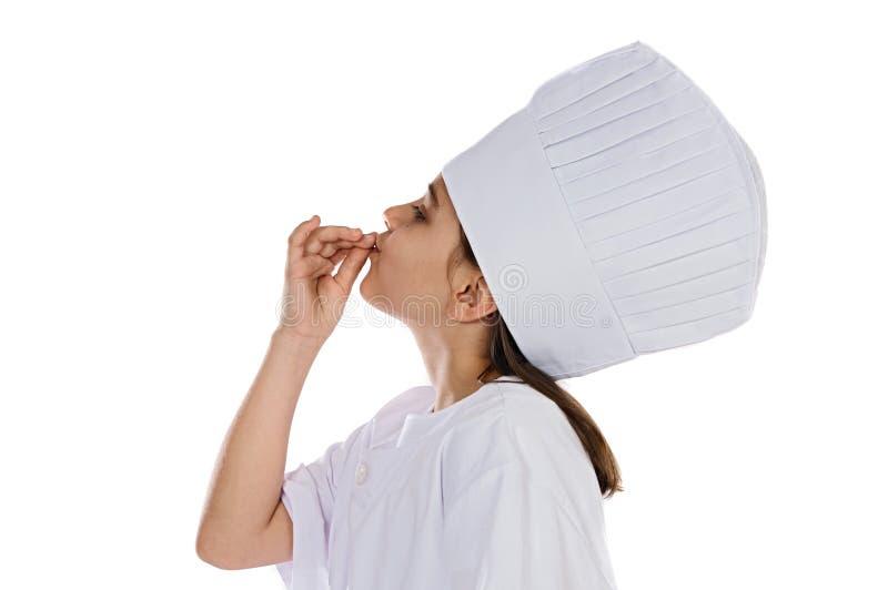 Eu quero ser um cozinheiro fotografia de stock royalty free