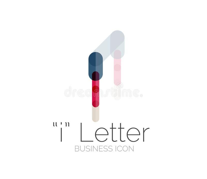 Eu rotulo o logotipo, linha mínima projeto ilustração royalty free