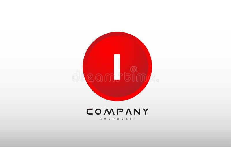 Eu rotulo o projeto vermelho do vetor do logotipo do ponto do círculo do alfabeto ilustração do vetor
